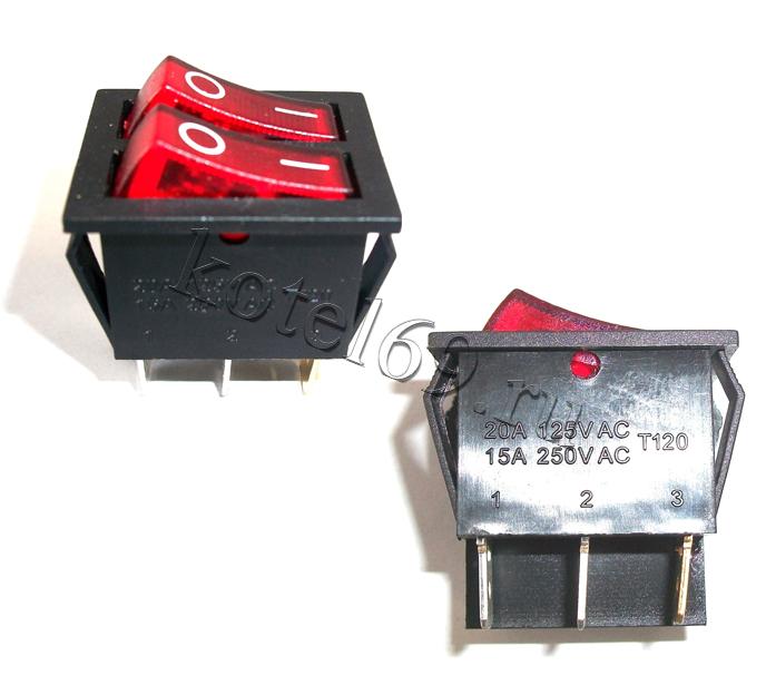 Выключатель двухклавишный (66135)