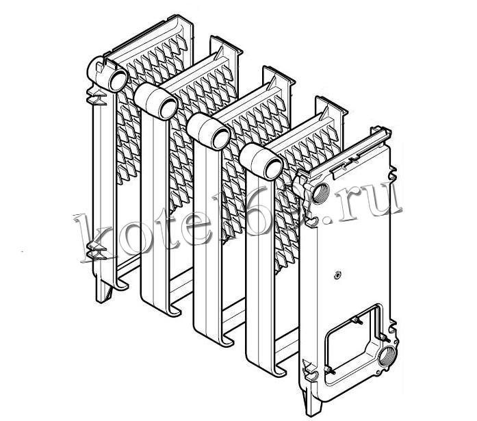 Чугунный первичный теплообменник baxi slim аналоги теплообменники ридан нн 08